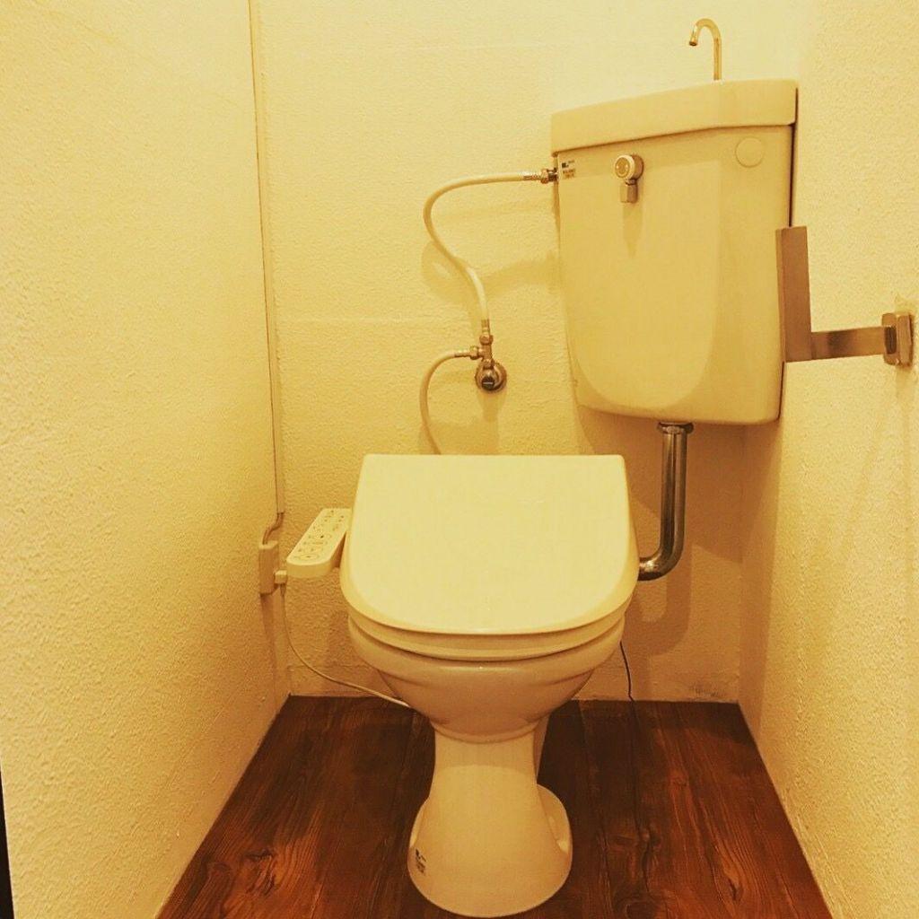 最高なリラックス空間となったルーツファクトリー東京店のトイレ