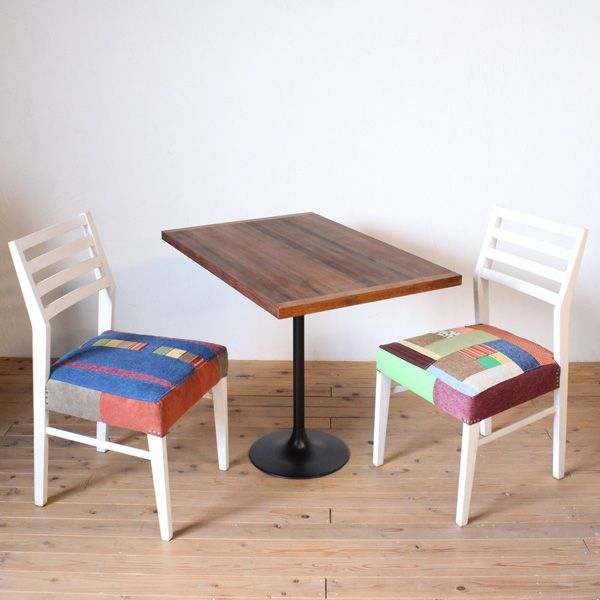 古材天板のカフェテーブル