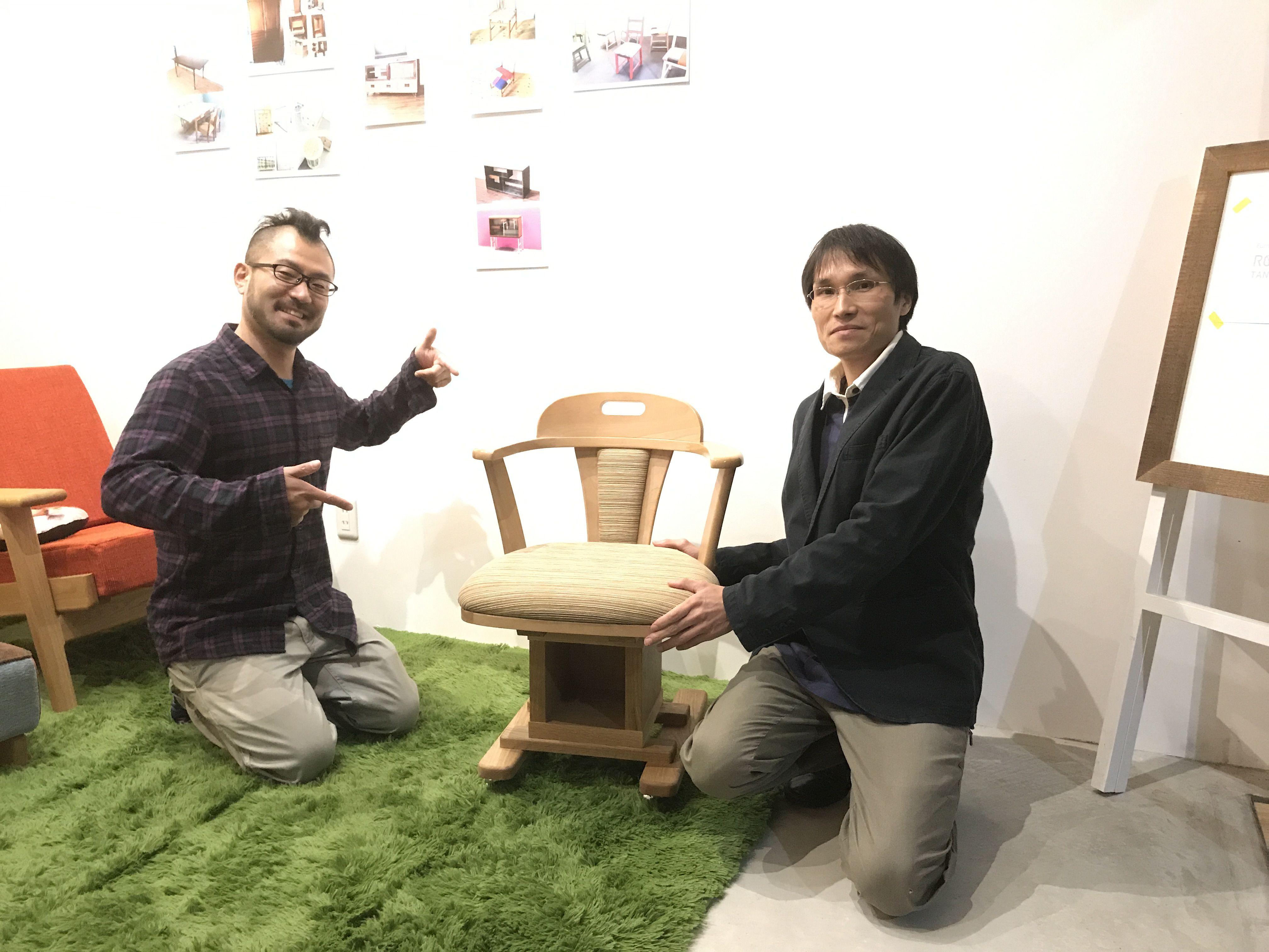 大阪本社タニヨンベースで椅子のリメイクのお引渡し