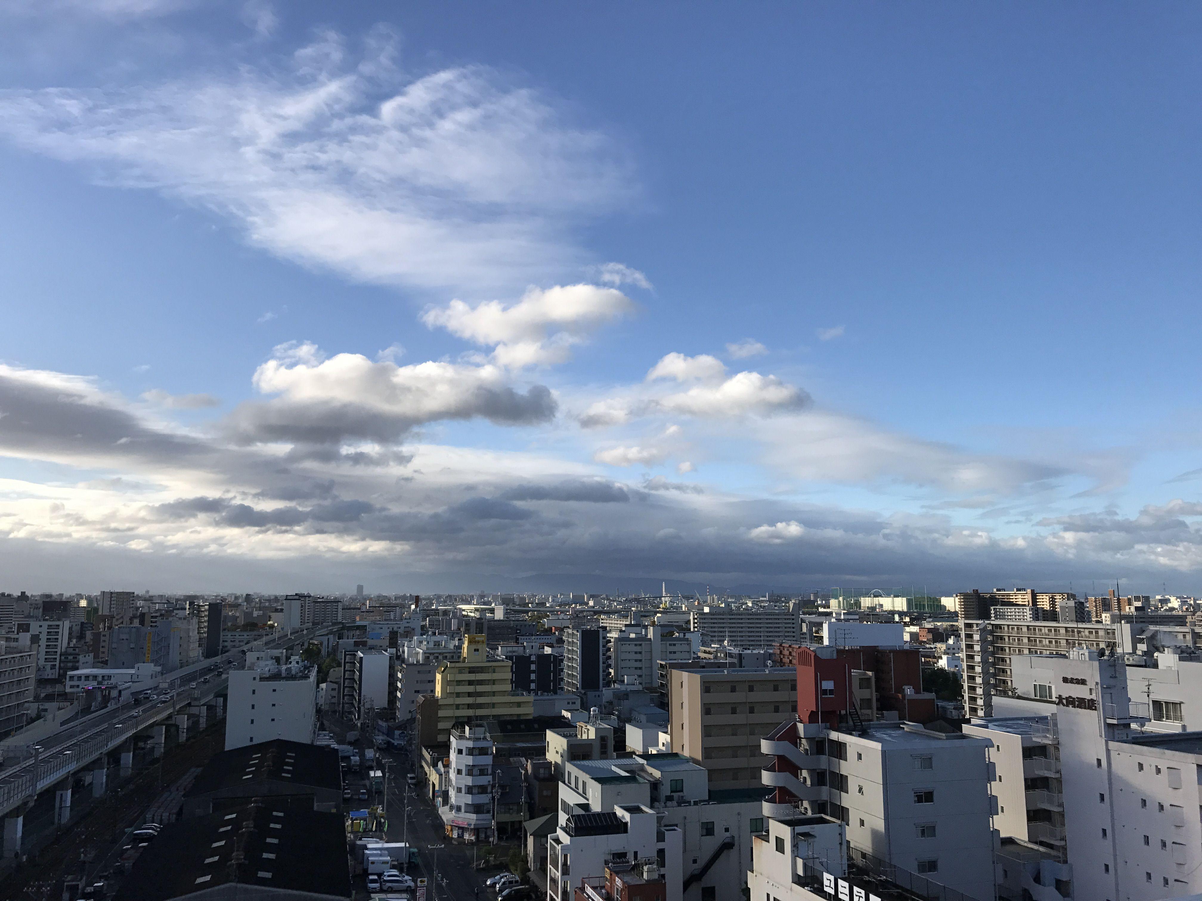 台風から一夜明け快晴