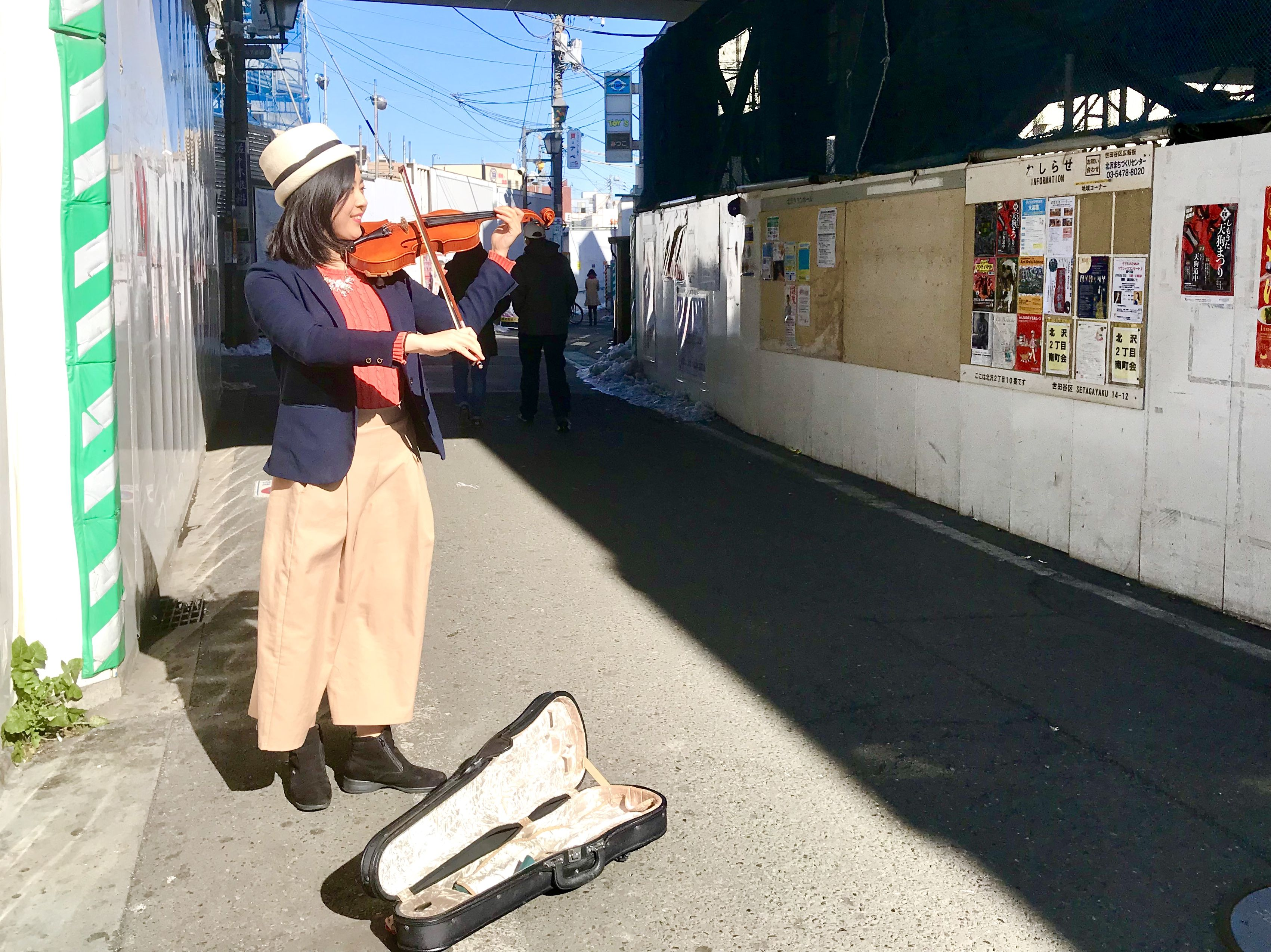 ユリマタタ バイオリン路上演奏