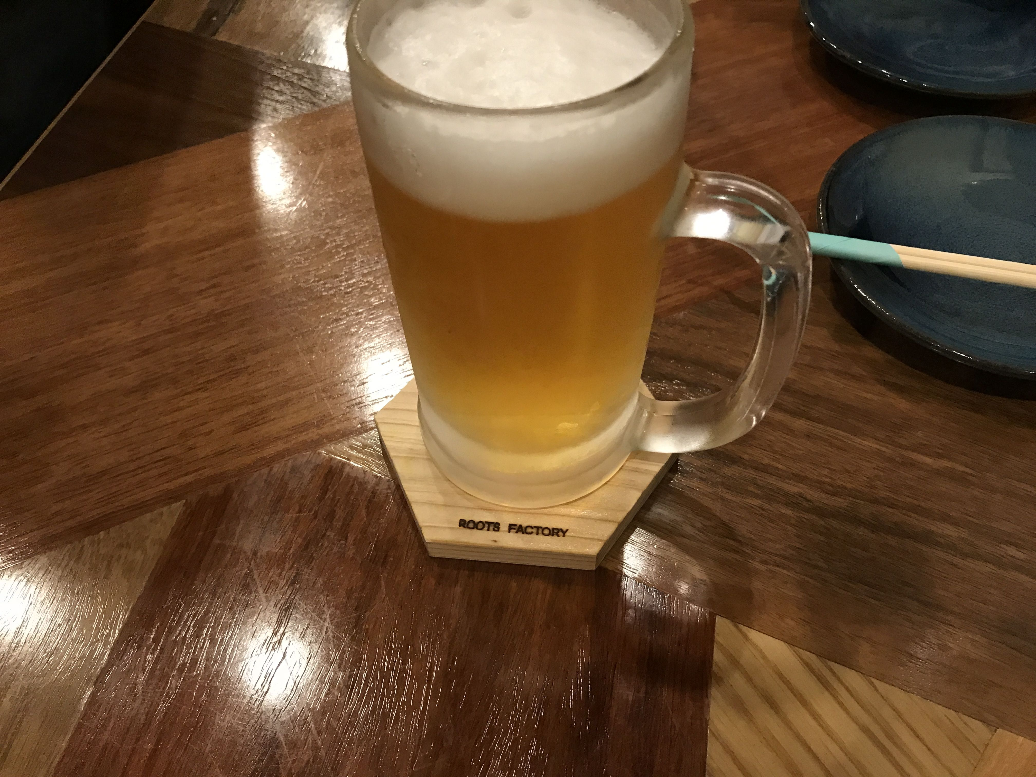 生ビールと六角二郎