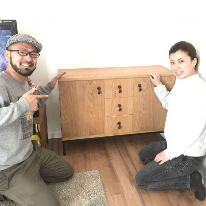 オーダーメイドキャビネットと家具作りたいおっさんとお客さま