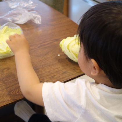 幼児と作る晩ご飯