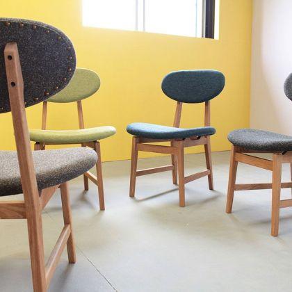 ゆったりとした座り心地のダイニングチェア『カームチェア』