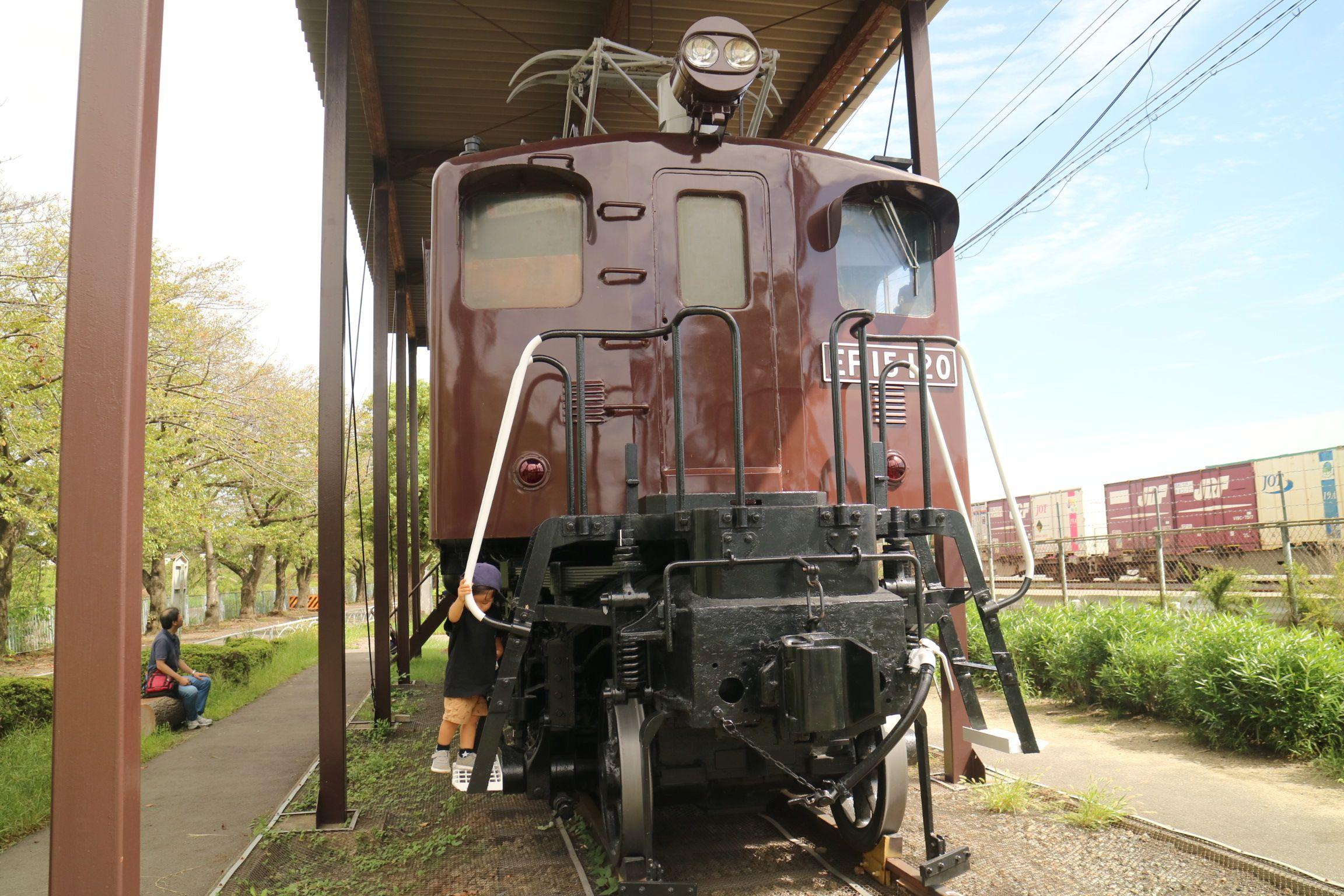 新幹線公園内の電気機関車