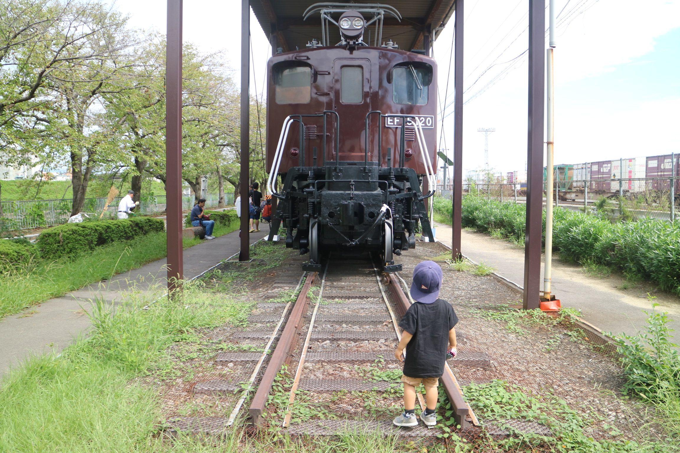 新幹線公園の味わい深い電気機関車