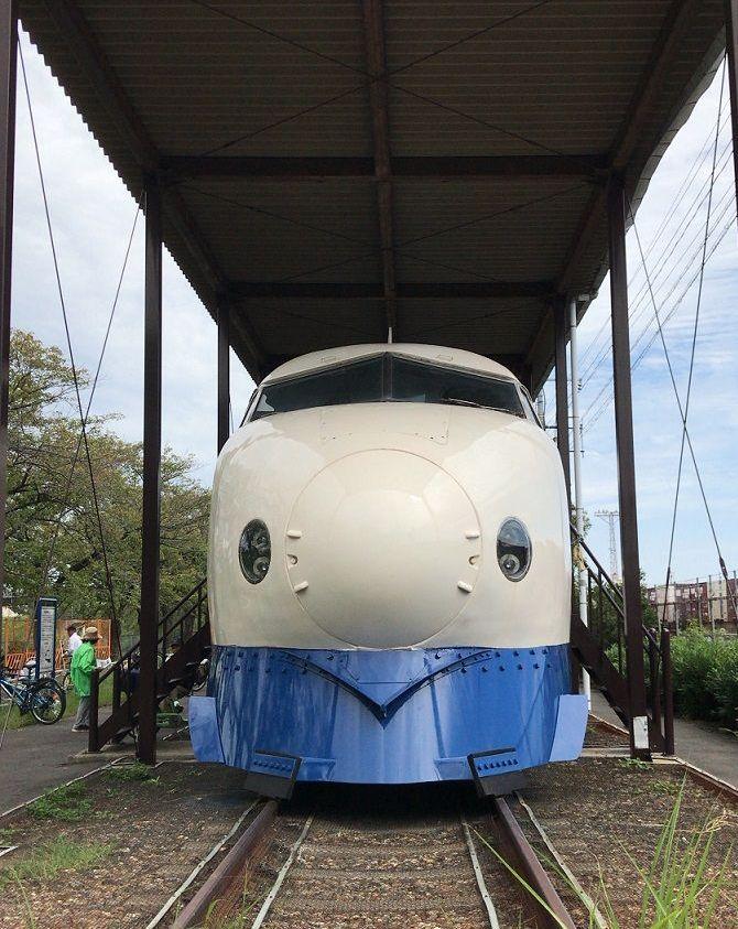 新幹線公園の0系にうっとり