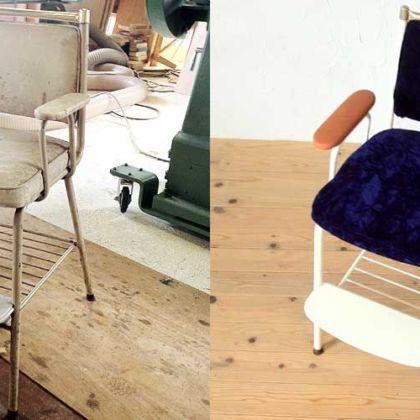 ベビーチェアをオンリーワンなお子様専用チェアにリメイク 家具リメイク事例:R009 Before&After