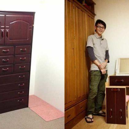 お母様の形見の婚礼家具一式からドレッサーと椅子にリメイク 家具リメイク事例:R022 Before&After