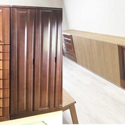 大きな婚礼タンスを壁一面の腰高リビングボードへリメイク 家具リメイク事例:R052 Before&After