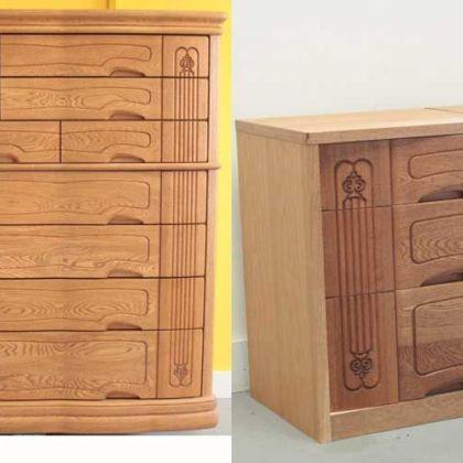 婚礼家具の整理タンスを対の2台のキャビネットにリメイク 家具リメイク事例:R063 Before&After