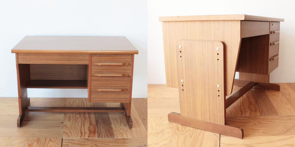 学習机の奥行きをリサイズ 家具リメイク事例:R184 Before&After