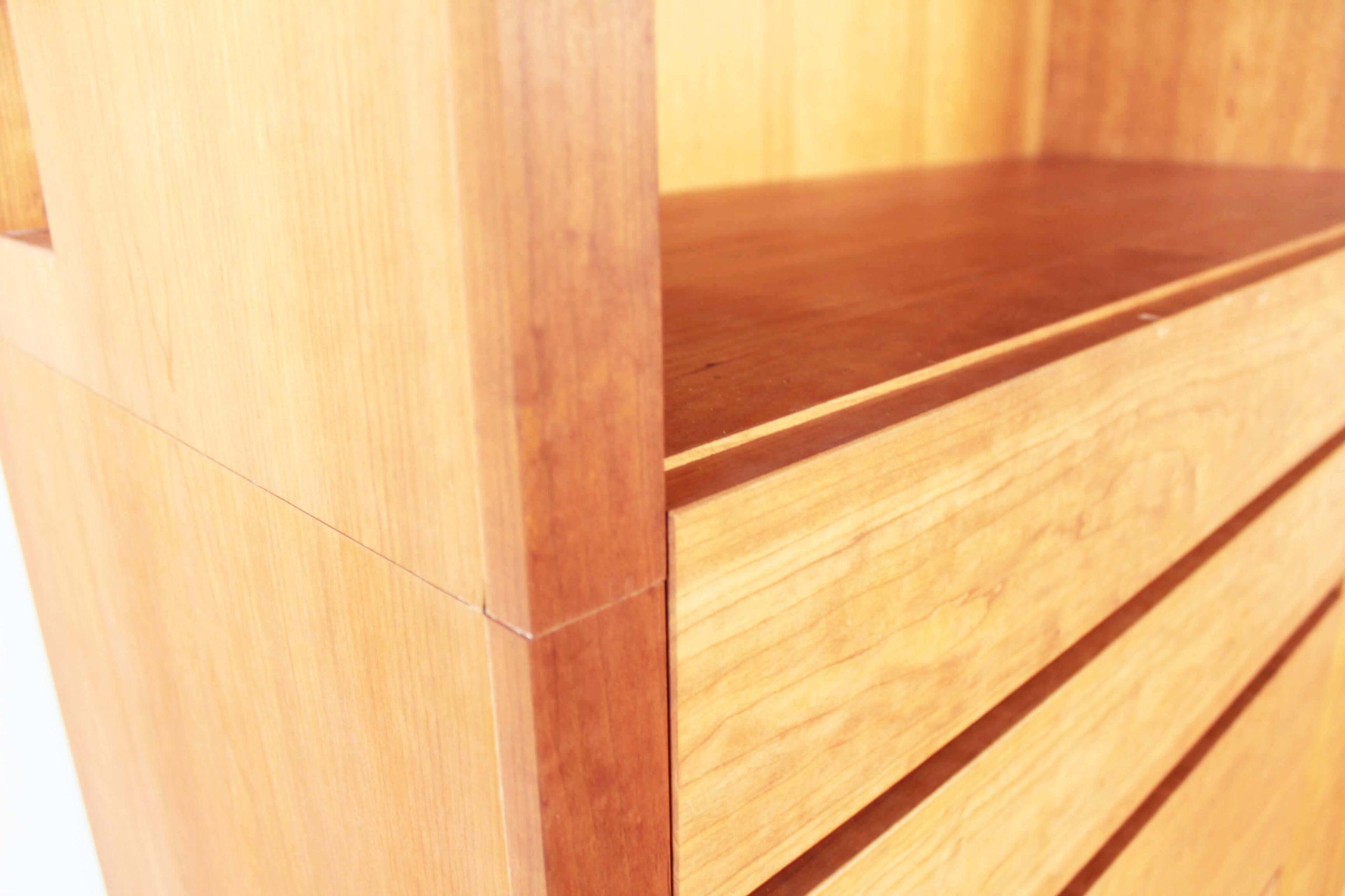 本棚にリメイク予定のオープン収納部分