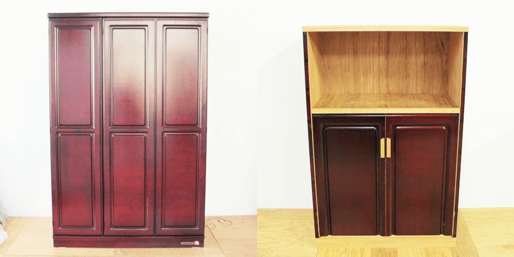 婚礼家具をミシンや金庫を収納するキャビネットに 家具リメイク事例:R200 Before&After