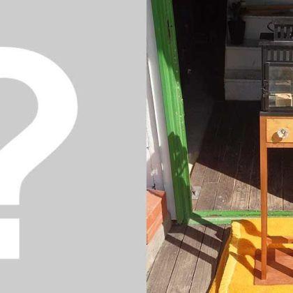 ランタンに引き出し付き木製フレームでキャンドルスタンドにリメイク 家具リメイク事例:R016 Before&After