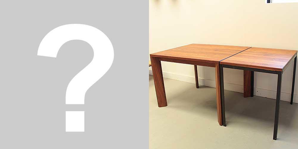 ダイニングテーブルを分割して2台のテーブルへとリメイク 家具リメイク事例:R061 Before&After