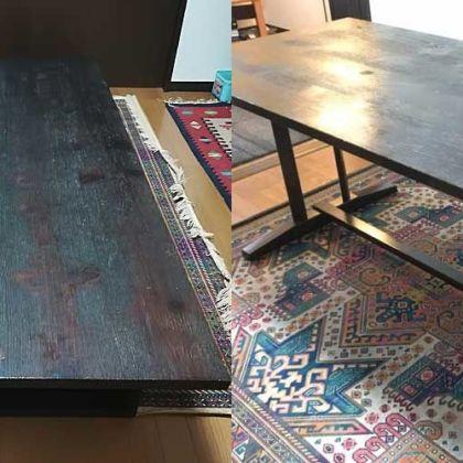 天板の姿はそのままに座卓をダイニングテーブルにリメイク 家具リメイク事例:R096 Before&After