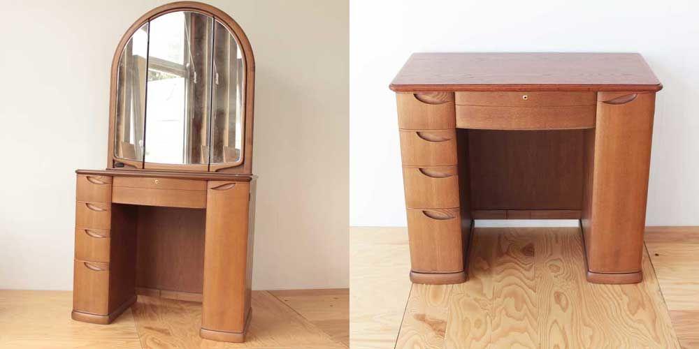 婚礼家具のドレッサーを、鏡部分だけ取り外してキャビネットに 家具リメイク事例:R099 Before&After