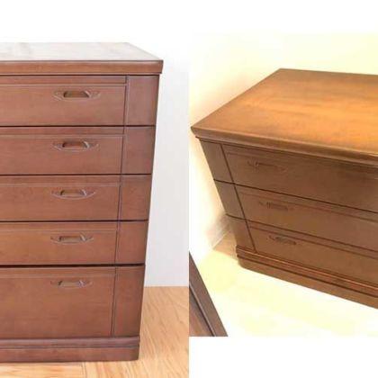 婚礼家具の整理タンスの高さを縮め3段チェストにリメイク 家具リメイク事例:R079 Before&After