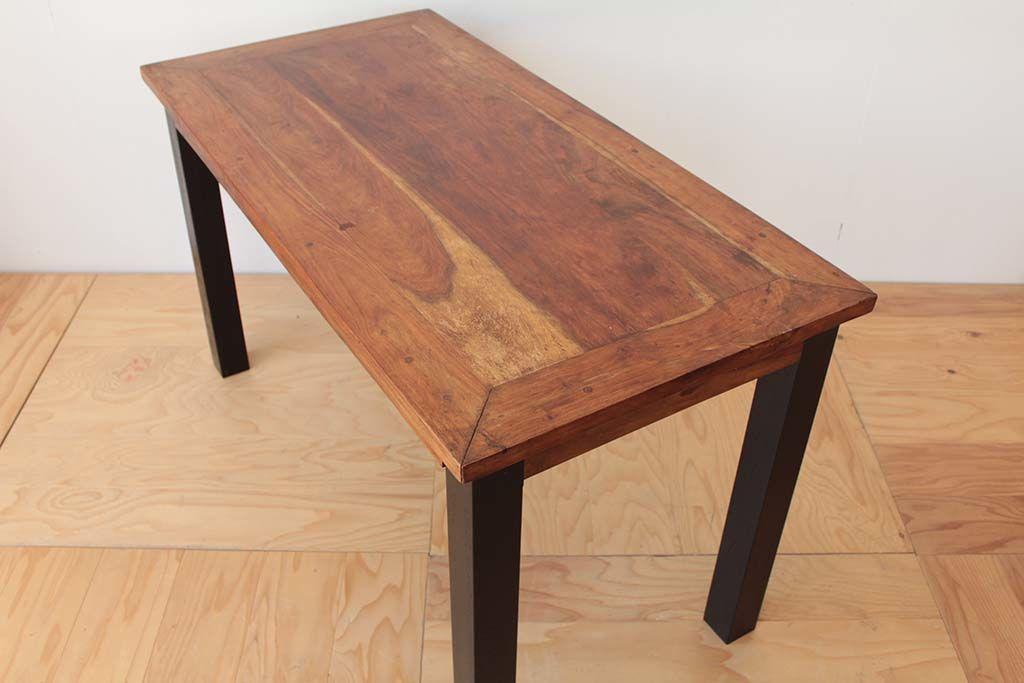 エキゾチックなアジアンスタイルのローテーブルから、無骨なブルックリンスタイルのダイニングテーブルへのリメイク