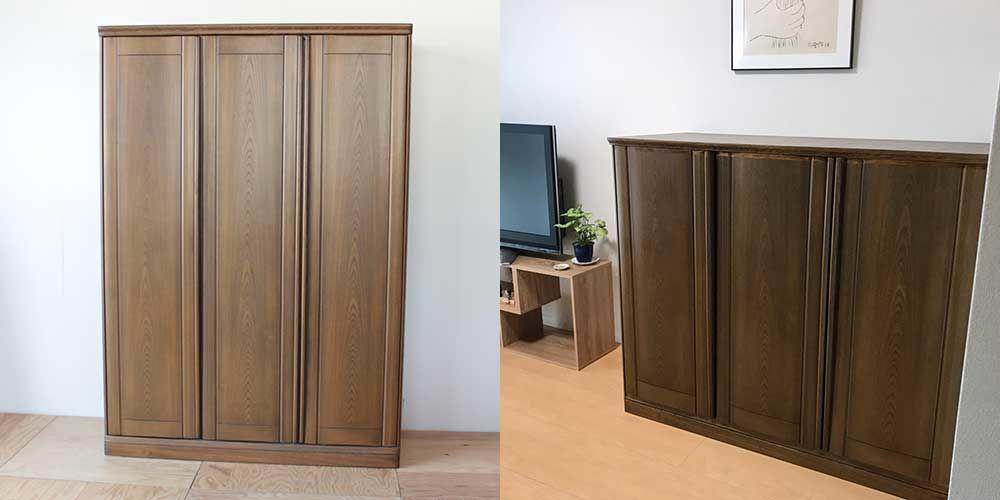 婚礼家具をリサイズと内部加工で、リビングボードに 家具リメイク事例:R118 Before&After