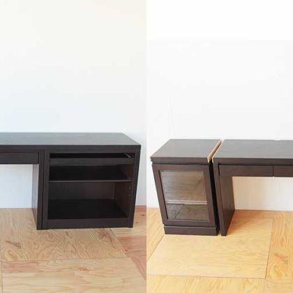 収納一体型のデスクを4分割してユニットタイプに 家具リメイク事例:R128 Before&After
