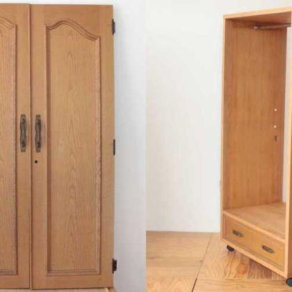 婚礼タンスの扉と引き出しを生かしワードローブに 家具リメイク事例:R139 Before&After