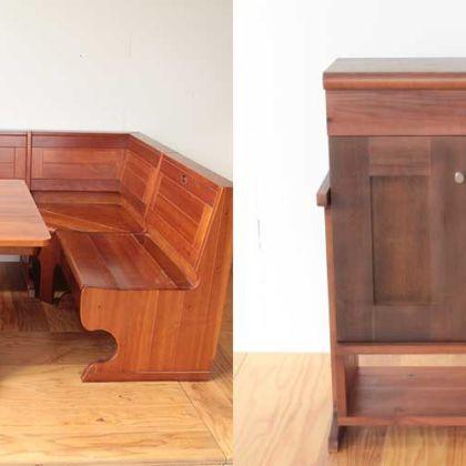 ダイニングセットを脚付きリビングキャビネットに 家具リメイク事例:R140 Before&After