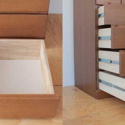 ブレザータンスの引き出しの奥行きを広げて収納力をアップ 家具リメイク事例:R155 Before&After