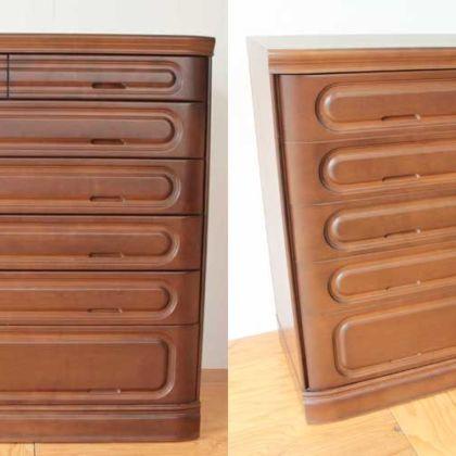 整理タンスの外観はそのままに開き戸のキャビネットに 家具リメイク事例:R162 Before&After