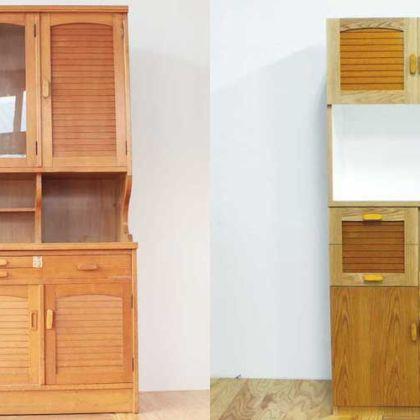 食器棚を3分の2の幅にリサイズ 家具リメイク事例:R167 Before&After