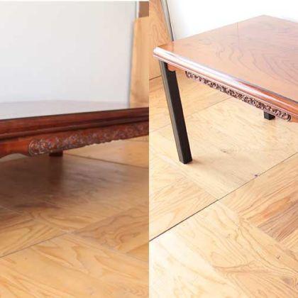 座卓を作業台兼用テーブルに 家具リメイク事例:R172 Before&After