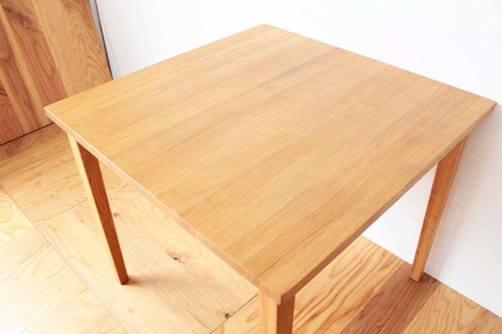 拡張式にリメイク前の正方形のテーブルの天板
