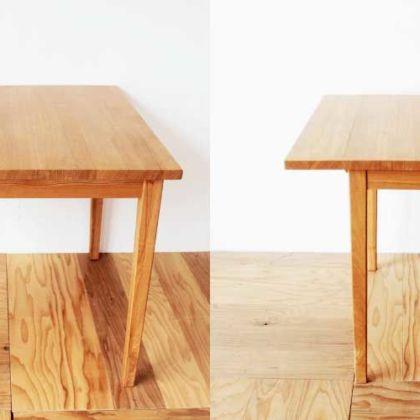 正方形のテーブルを天板拡張式スタディデスクに 家具リメイク事例:R178 Before&After