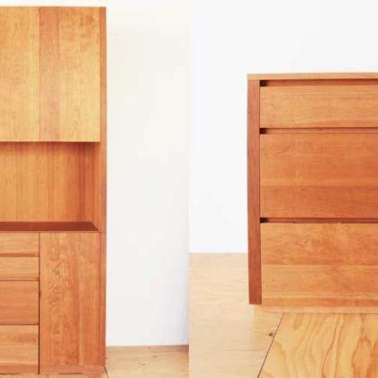 キッチンボードの引き出しを使ってサイドボードに 家具リメイク事例:R187 Before&After