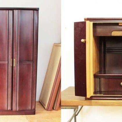 婚礼タンスの部材をたっぷり使ってコンパクトなお仏壇に 家具リメイク事例:R190 Before&After