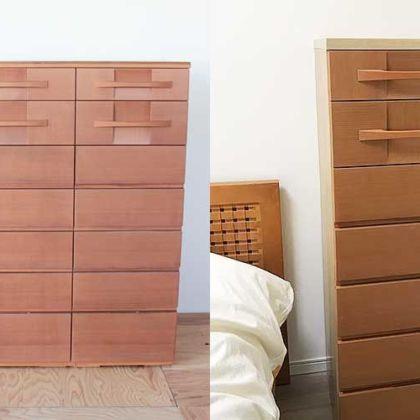 婚礼タンスの引き出しを使いスリムチェストに 家具リメイク事例:R197 Before&After