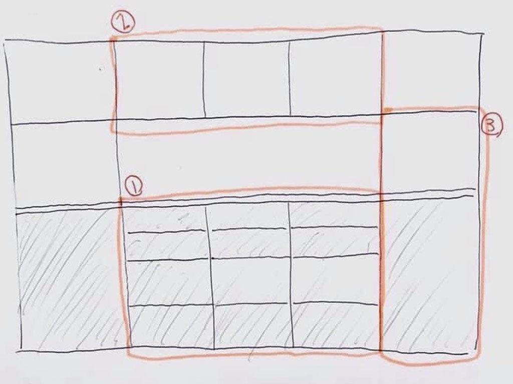 壁面収納ボードの分割リメイクイメージ