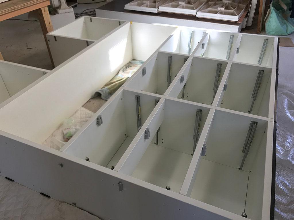 壁面収納ボードのリメイク製作過程