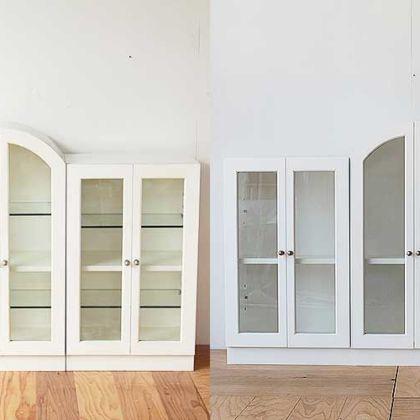 真白なサイドボードを再塗装してレストア 家具リメイク事例:R214 Before & After