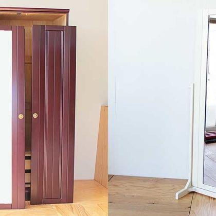 洋タンスの扉に付いていたミラーを生かして姿見に 家具リメイク事例:R218 Before & After