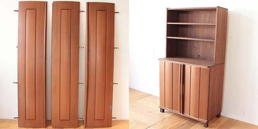 婚礼タンスの扉を生かしてリビングボードに 家具リメイク事例:R220 Before&after