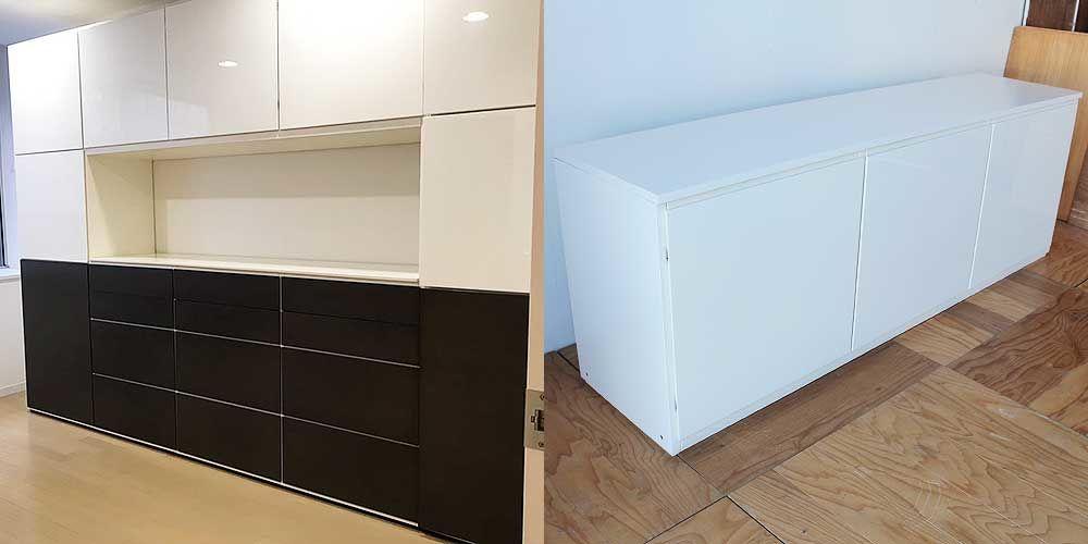 壁一面の大きな収納家具を分割して使えるように 家具リメイク事例:R222 Before&after
