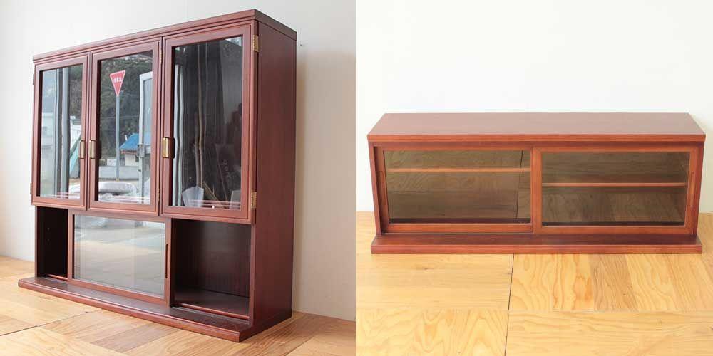 婚礼家具の食器棚の背を低く 家具リメイク事例:R225 Before&after