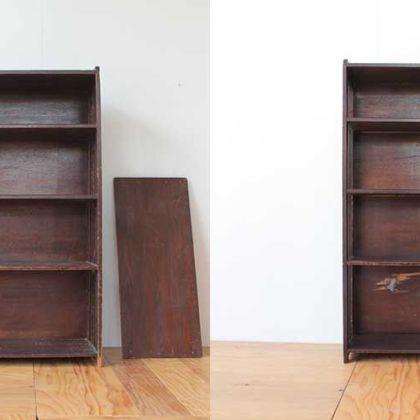 戦前から引き継がれる本棚をリペア&リサイズ 家具リメイク事例:R227 Before & After