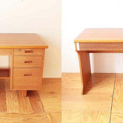 学習机を簡単に移動できるよう引き出しとデスク部に分割 家具リメイク事例:R233 Before&after