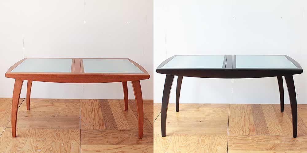ダイニングテーブルの色を変えてイメージチェンジ 家具リメイク事例:R234 Before&after
