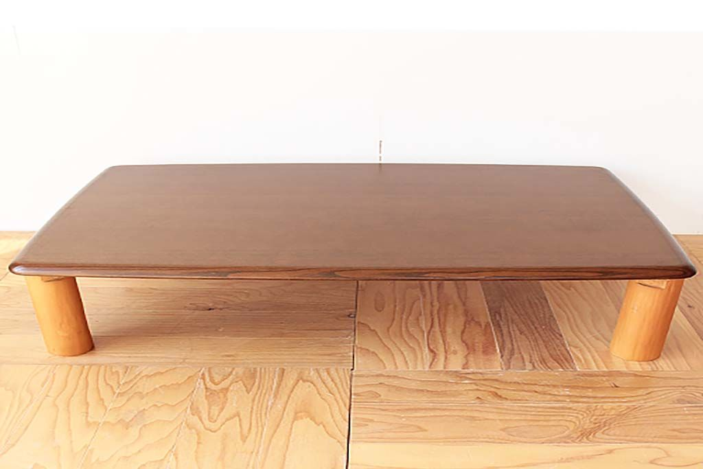 円形テーブルにリメイクする前の長方形座卓
