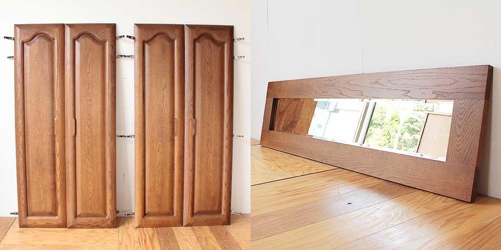 婚礼家具についていた鏡を生かして壁掛けミラーに 家具リメイク事例:R244 Before&after